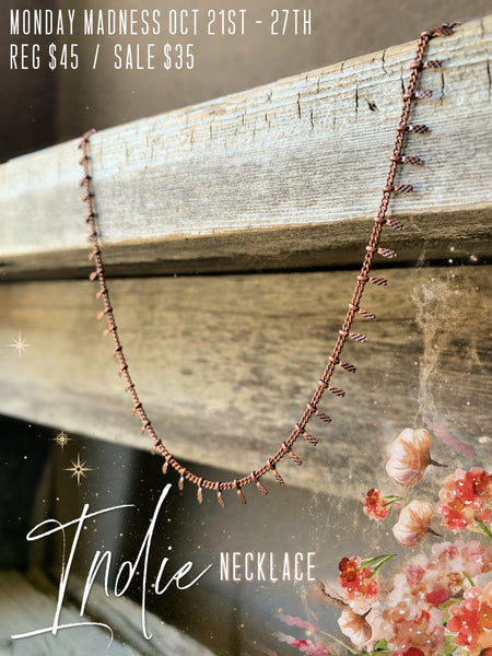 Monday Madness: The Indie Necklace, Antique Copper