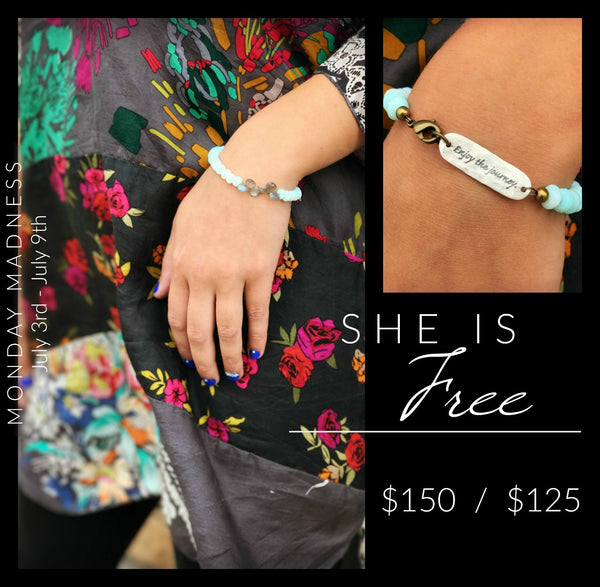 Monday Madness She Is Free Bracelet