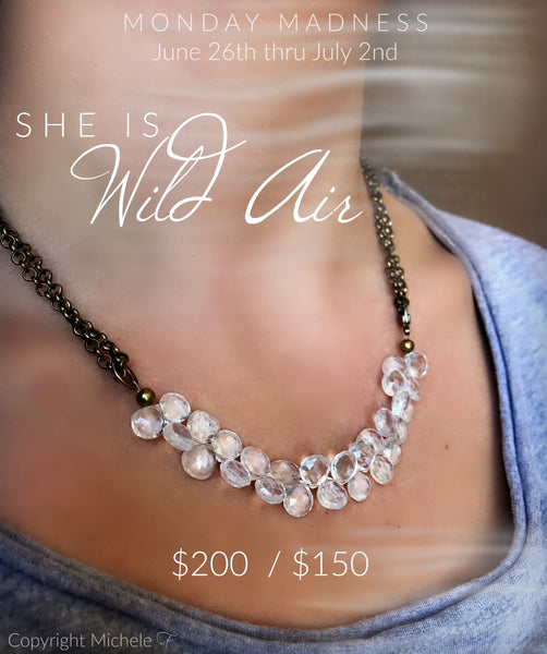 Monday Madness She Is Wild Air Necklace