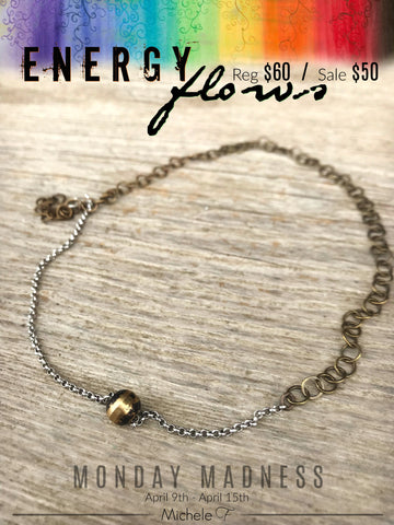 Monday Madness + Energy Flows + Michele F + Handmade Jewelry + Necklace