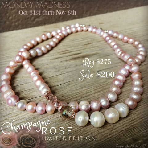 Champagne Rose + Monday Madness + Pearls