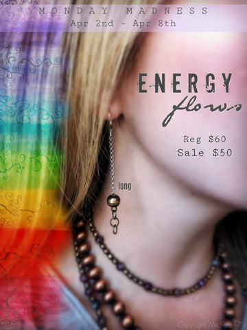 Monday Madness + Energy Flows + Earring + Handmade Jewelry