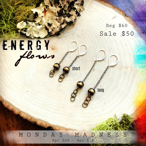 Monday Madness + Michele F + Energy Flows + Earring + Handmade Jewelry