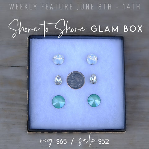 Michele F + Weekly Feature + Shore to Shore + Swarovski + Glam Box