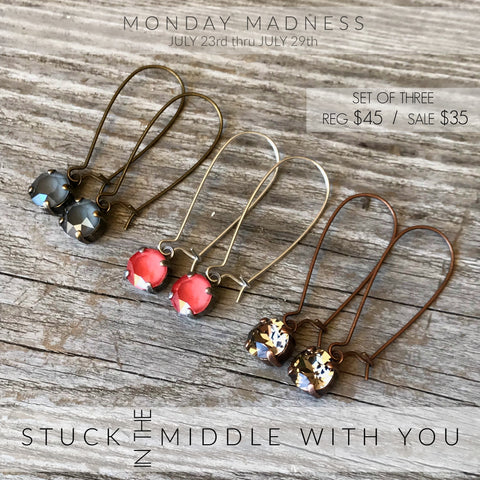 Monday Madness + Swarovski + Stuck In The Middle With You + Michele F
