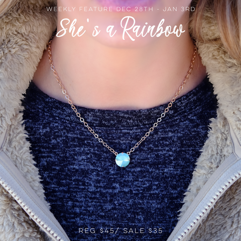 Weekly Feature + Michele F + Downtown Minot + She's a Rainbow + Swarovski