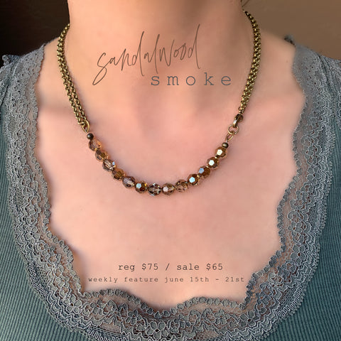 Weekly Feature + Monday Madness + Michele F + Swarovski + Shore to Shore + Sandalwood Smoke