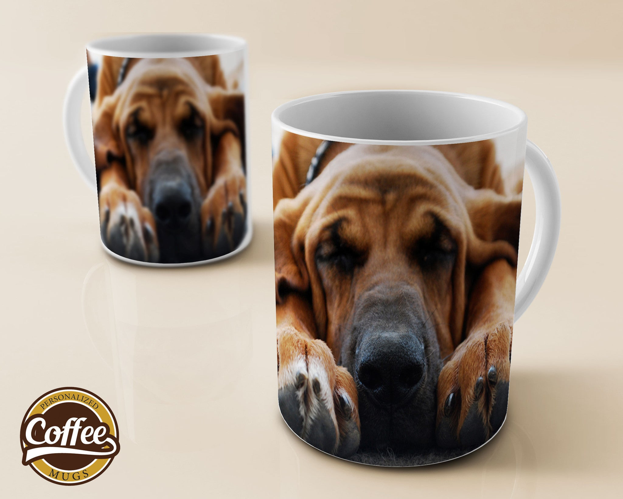 Custom Coffee Mugs - Funny Dogs - Basset Hound