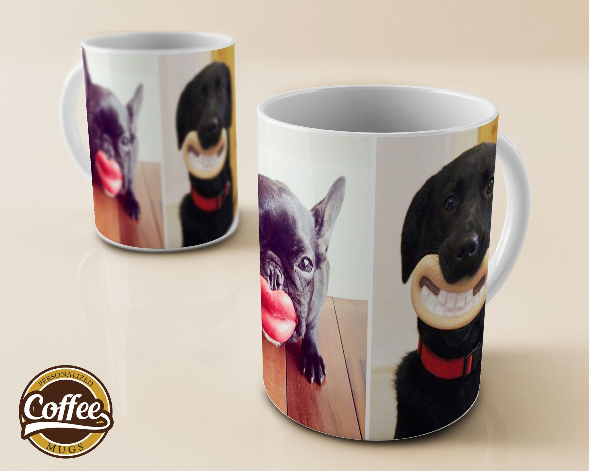 Custom Coffee Mugs - Funny Dogs - German Sheppard