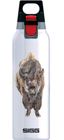 OriginaLizzie American Bison on White Hot and Cold ONE 0.5L
