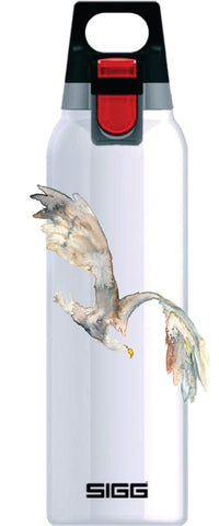 OriginaLizzie Flying Bald Eagle on White Hot and Cold ONE 0.5L