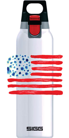 OriginaLizzie American Flag on Hot and Cold White ONE 0.5L