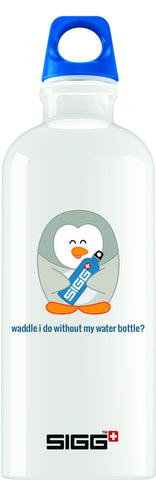 Queenie's Cards Penguin on 0.6L Classic Traveller White
