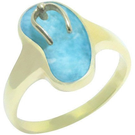 The Caribbean Escapade Larimar Ring