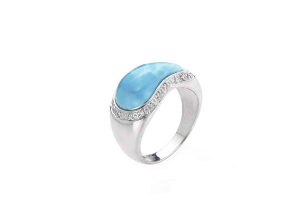 Larimar 14k Rings Harrisons Fine Caribbean Jewelers