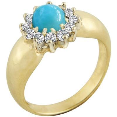 Forever Caribbean Larimar & Diamonds Ring