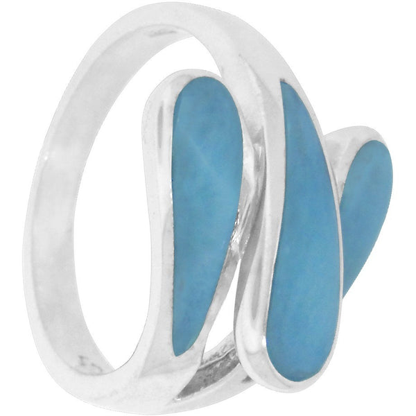Intertwined Larimar Sterling Silver Ring