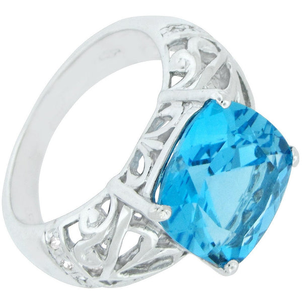 Blue Insights ~ Blue Topaz ~ Sterling Silver Ring