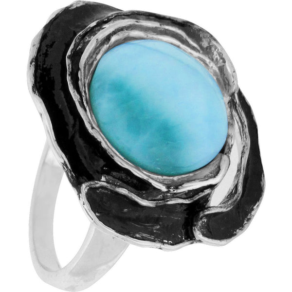Oasis Blossom - Larimar in Sterling Silver