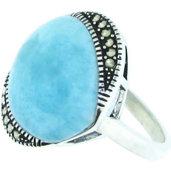 Been Around the World ~ Larimar ~ Sterling Silver Ring