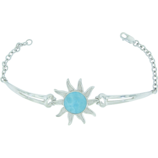 Reflections of The Sun Larimar Sterling Silver Bracelet