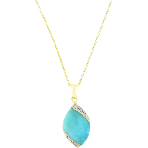Road to Larimar Diamonds Necklace
