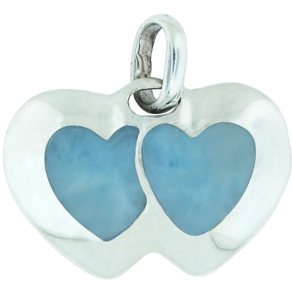 Hearts Entwined Larimar Sterling Silver Pendant
