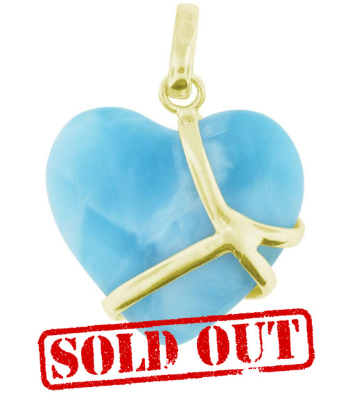 Love's Hold Larimar 14K Pendant