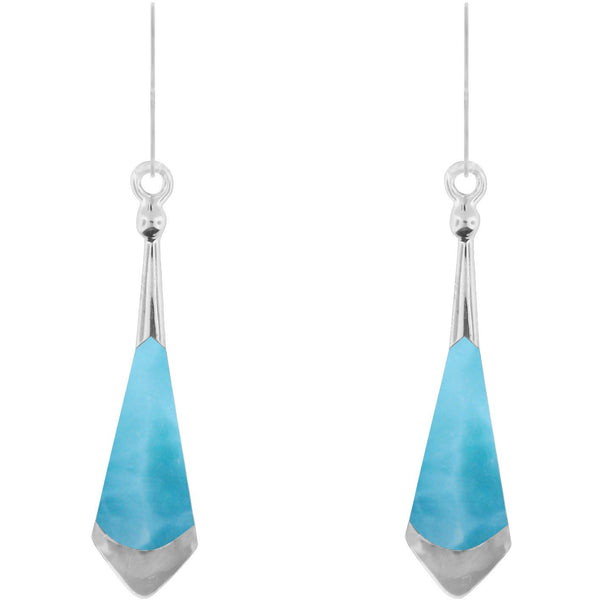 Penchant for the Caribbean Larimar Sterling Silver Earrings