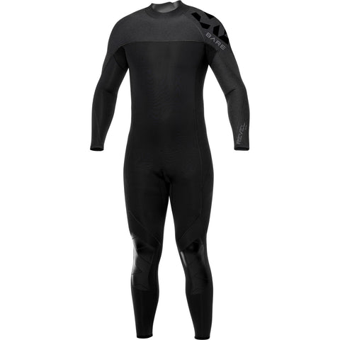BARE 3/2mm Revel Mens Grey Wetsuit, Huish Outdoors - New England Dive