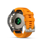 Garmin fenix 5 Plus Sapphire - Titanium with Solar Flare Orange Band, Garmin - New England Dive