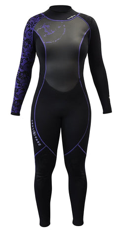 Aqua Lung 3mm Women's Hydroflex Black/Twilight, Aqua Lung - New England Dive