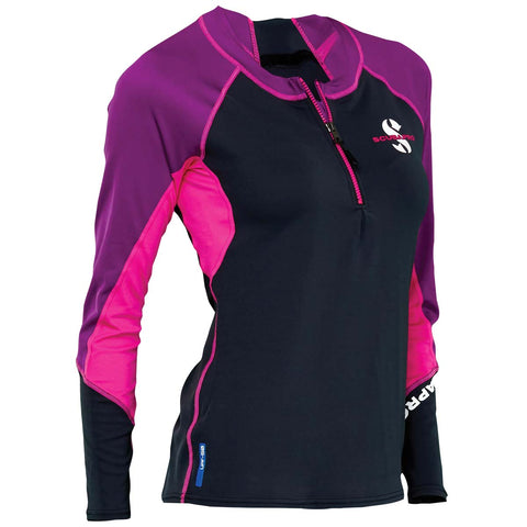 Scubapro Women's C-Flow Long Sleeve Zippered Rash Guard