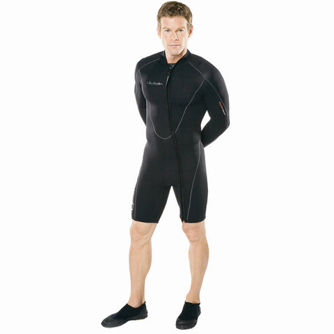 Henderson 3MM Thermoprene Long Sleeve Shorty, Henderson - New England Dive