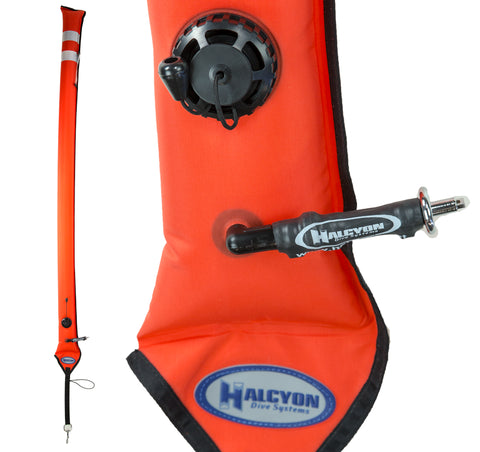 Halcyon Super Slim Divers Alert Marker 6 ft. Orange