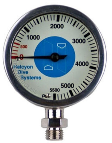 Halcyon Master Submersible pressure gauge 0-5500 psi, Halcyon - New England Dive