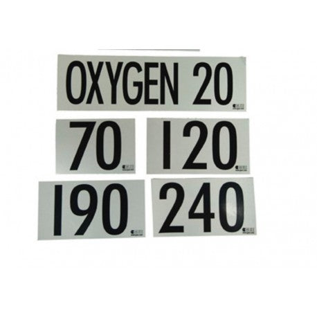 Halcyon GUE MOD decal each: Oxygen 20, Halcyon - New England Dive