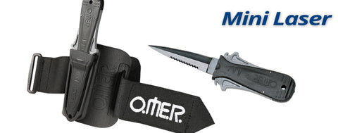 Omersub Sporasub MINI LASER WITH ARM SHEATH KNIFE, OMER - New England Dive