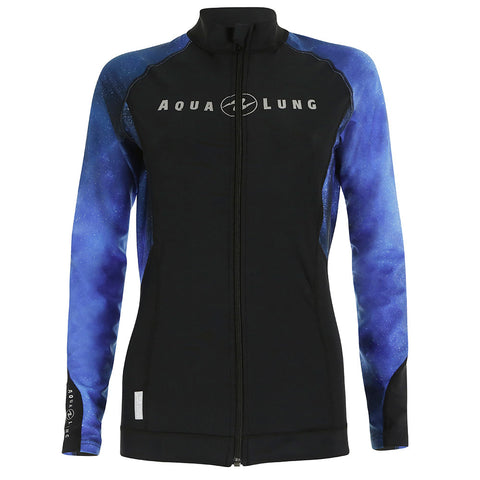 Aqua Lung Women's Zippered Rash Guard, New England Dive - New England Dive