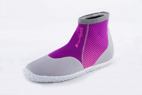 NeoSport Neoprene 3mm Low Top Pull on Boot Berry, NeoSport - New England Dive