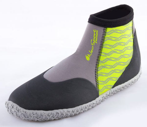 NeoSport Neoprene 3mm Low Top Pull on Boot Lime, NeoSport - New England Dive