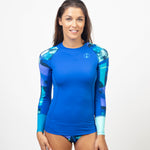 Fourth Element WOMENS LONG SLEEVE HYDROSKIN BLUE, Fourth Element - New England Dive