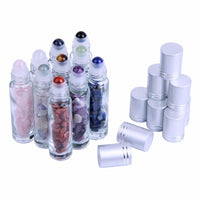 10-Piece Essential Oil Gemstone Roller Bottle Set Accessories