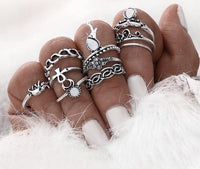 10-Piece Vintage Boho Ring Set Rings