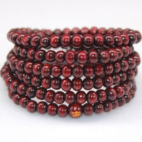 108 Rosewood Prayer Mala Beads Bracelet