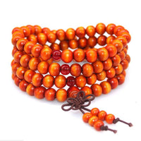 108 Rosewood Prayer Mala Beads Bracelet color 11