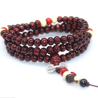 108 Rosewood Prayer Mala Beads Bracelet color 14