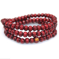 108 Rosewood Prayer Mala Beads Bracelet color 15