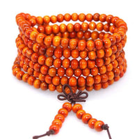 108 Rosewood Prayer Mala Beads Bracelet color 16