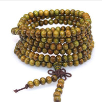 108 Rosewood Prayer Mala Beads Bracelet color 17